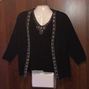 2pc: Cami & Jacket:Pearl, Rhinestone, Beads Design